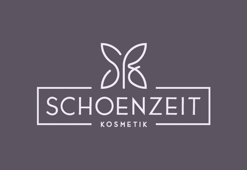 Schoenzeit Kosmetik Neues Logo Negativausführung